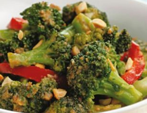 Spicy Stir Fried Broccoli & Peanuts